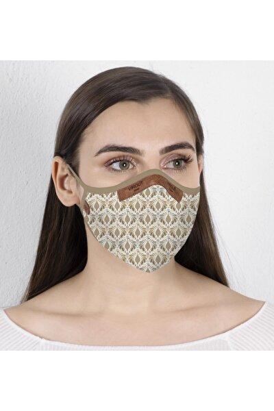Kadın Giyilebilir Tasarım Bez Maske Peacock Desen