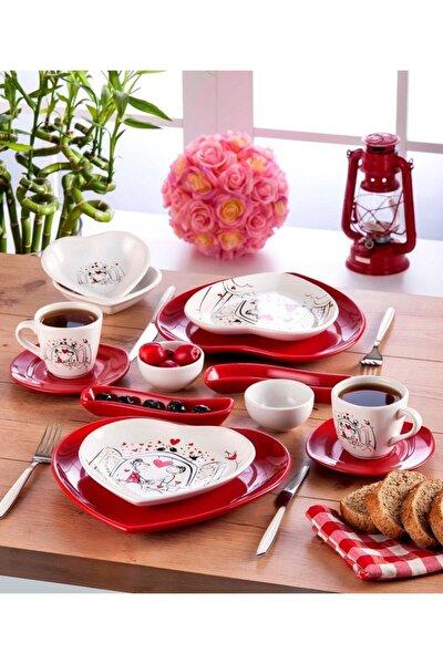 Keyfi Aşk Kahvaltı Takımı 14 Parça 2 Kişilik