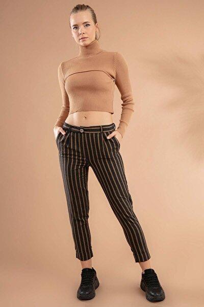 Kadın Çizgili Pantolon 39527