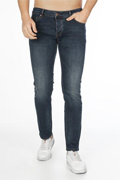 Erkek Lacivert Kot Pantolon Slim Fit Jean C300