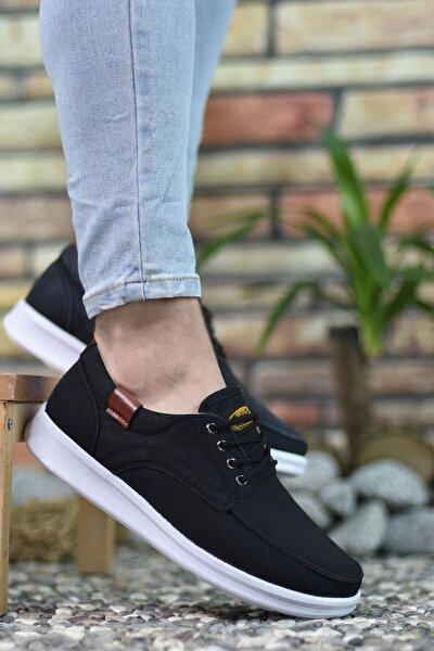 Siyah Beyaz Erkek Sneaker 001223