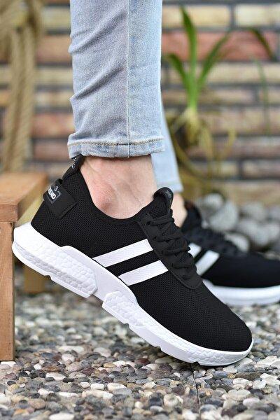 Siyah Beyaz Erkek Sneaker 00122051