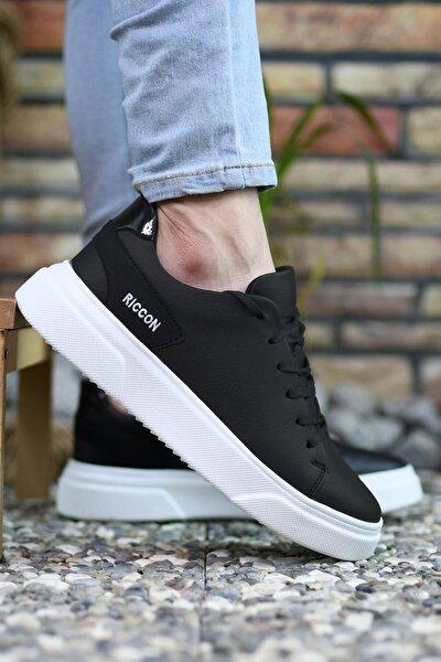 Siyah Beyaz Erkek Sneaker 0012166