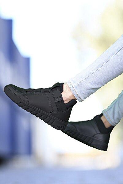 Siyah Siyah Erkek Sneaker Bot 0012383