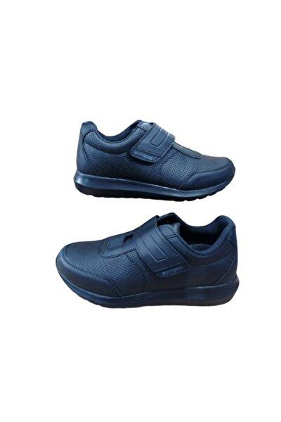 Unisex Siyah Deri Spor Ayakkabı