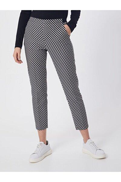 Kadın Siyah Puantiyeli Pantolon