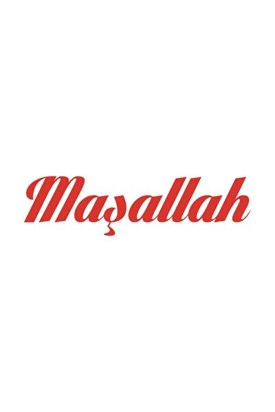 Maşallah Yazısı Sticker Yapıştırma | Kaput - Bagaj - Cam | Kırmızı
