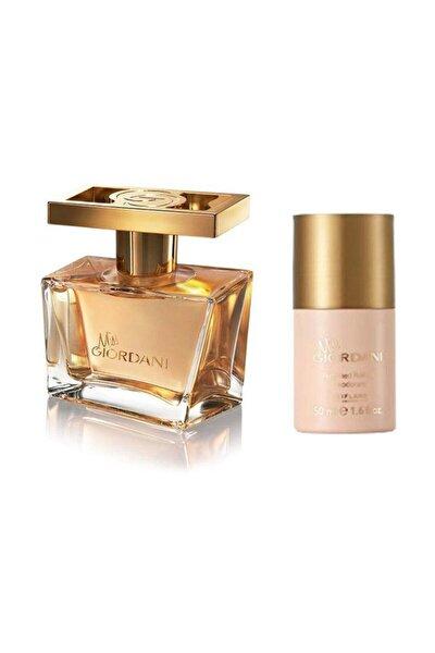 Miss Giordani Edp 50 ml Kadın Parfümü ve  Roll On Deodorant 5262645956161