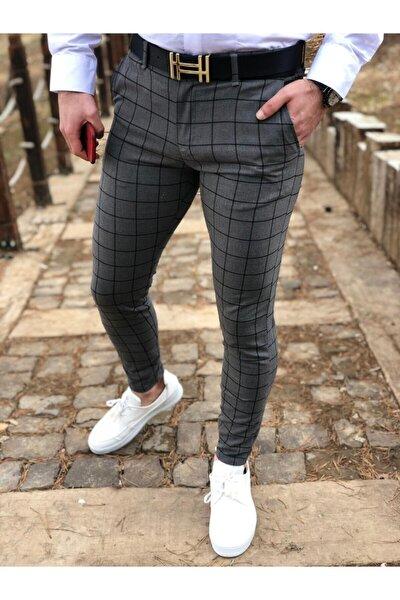 Erkek Ekose Kumaş Pantolon