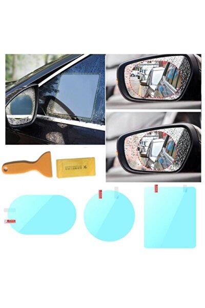 4 Adet Araç Yan Arka Ayna Cam Yağmur Kaydırma Film Su Kaydırıcı