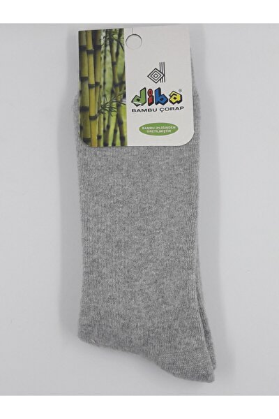 Bambu Havlu Kışlık Kalın Yumuşak Dokulu Kadın Çorap Gri