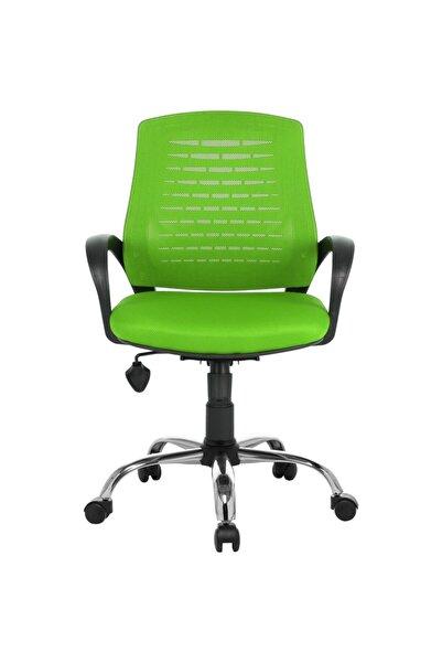 Çalışma Sandalyesi Yeşil Ofis Krom