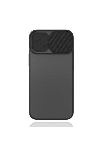 Apple Iphone 12 Pro Max Sürgülü Lens Ve Kamera Korumalı Mat Silikon Kapak