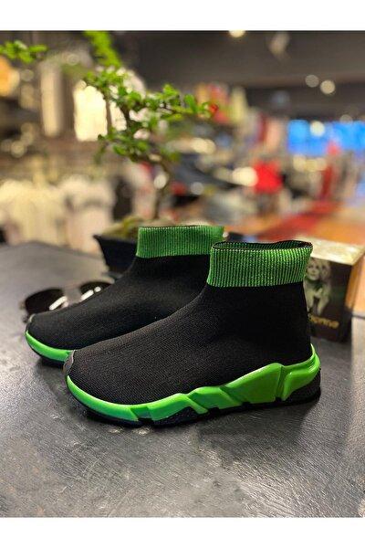 Kadın Siyah Çorap Şekil Ayakkabı
