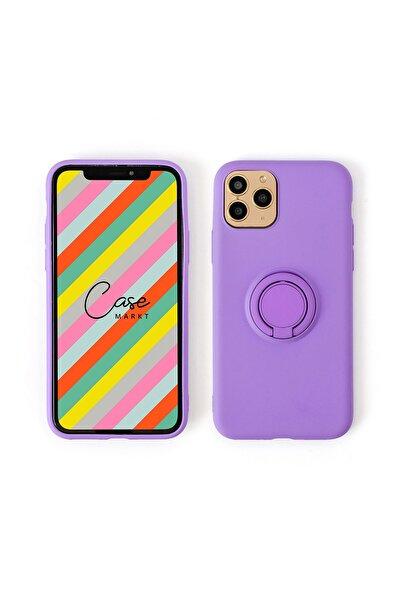 Iphone 11 Pro Yüzüklü Standlı Silikon Telefon Kılıfı 7 Renk