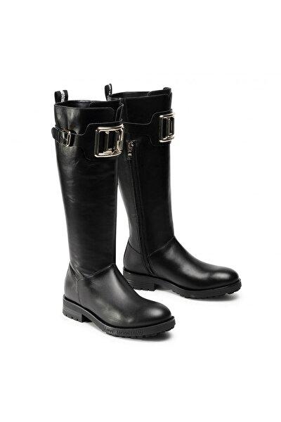 Kadın Siyah Tokalı Çizme