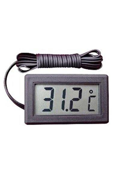 Dijital Problu Termometre Lcd Mutfak Iç Dış Mekan Kuluçka Sıcaklık Ölçer Tpm 10
