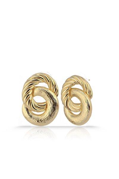 Altın Renkli Ikili Halka Küpe Rdpk5052