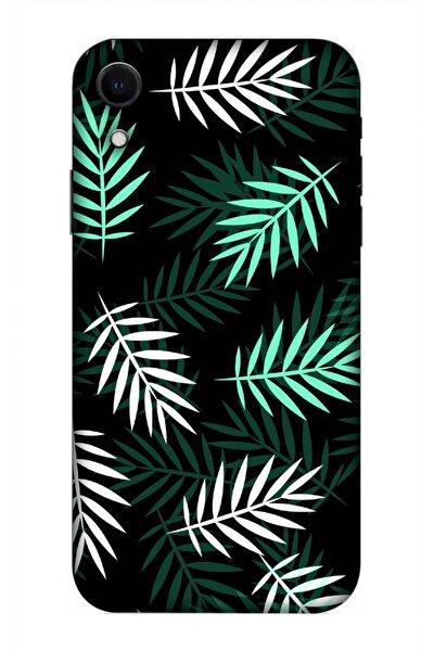 Küstüm Yaprağı Desenli Baskılı Apple Iphone Xr Kılıf Silikon Kilif