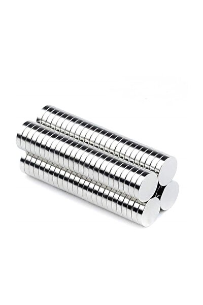 50 Adet 6mm X 3mm Yuvarlak Güçlü Neodyum Mıknatıs (50'li Paket)