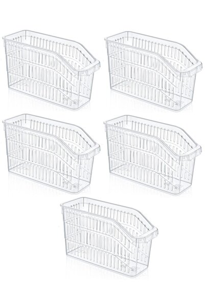 Buzdolabı Sepeti Dolap Içi Düzenleyici Sepet Organizer Şeffaf 5 Adet 30x17x16