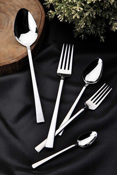 Dark Kitchen 30 Parça Çatal Kaşık Seti 430 Kalite