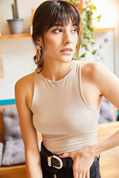 Kadın Taş Göğüs Ek Parçalı Altı Çıtçıtlı Bodysuit BDY-00000001