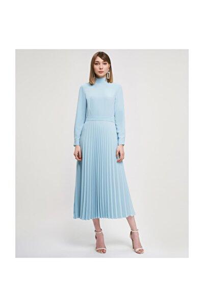 Pileli Mint Elbise V43150123