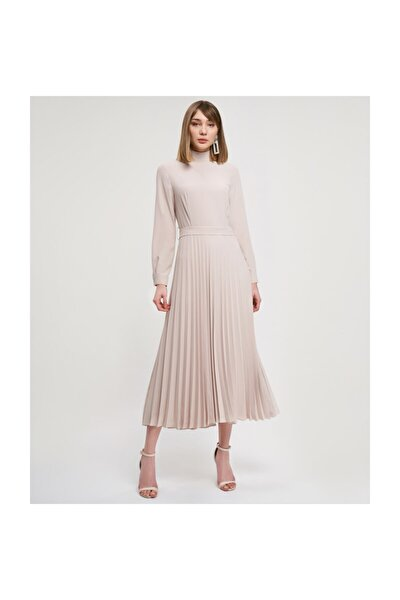 Pileli Taş Elbise V43150123