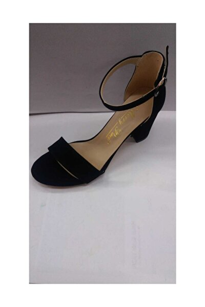 Siyah Topuklu Tek Bant Ayakkabı