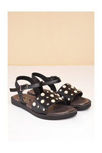 PC-2718 Siyah Kadın Sandalet
