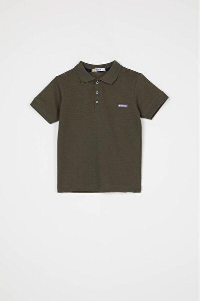 Erkek Haki Polo Yaka Tişört