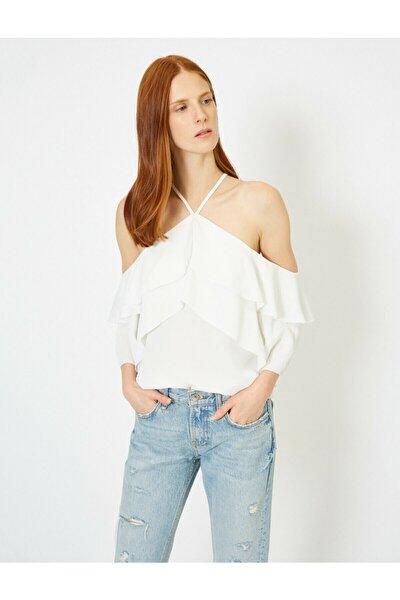 Omuz Detayli Bluz
