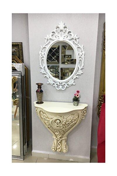 Taç Model Beyaz Renk Ayna Modern Ayna Dekoratif Ayna
