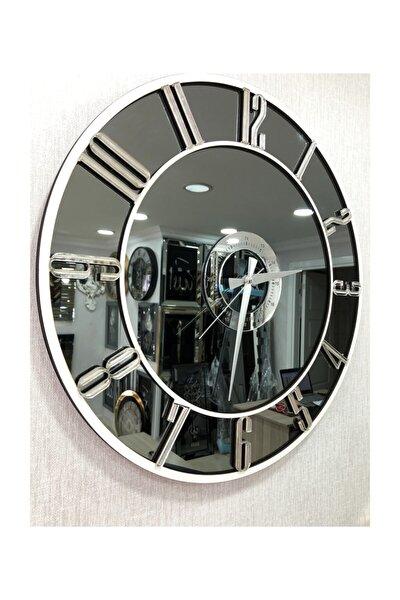 Aynalı  Duvar Saati 50 Cm Çap