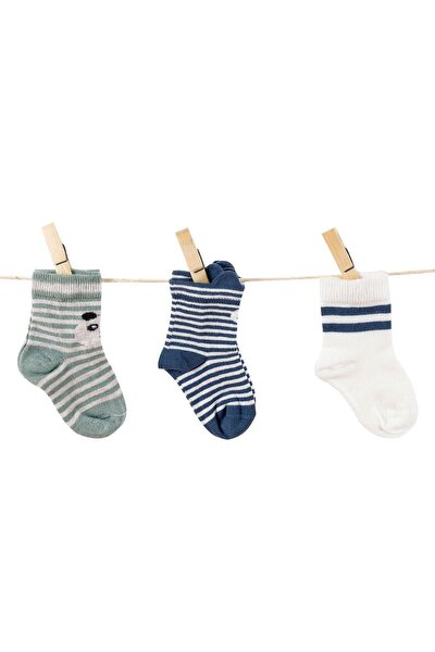 Erkek Bebek 3lü Çorap 0-36 Ay C35550