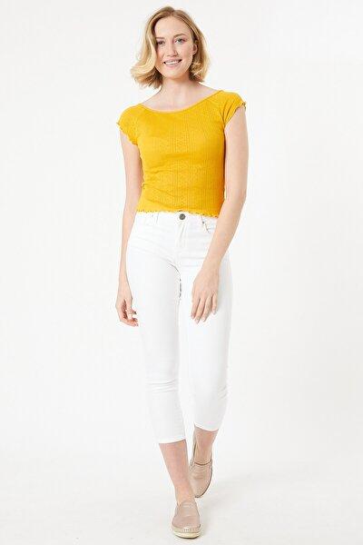 Beyaz Renk Slim Fit Kadın Pantolon