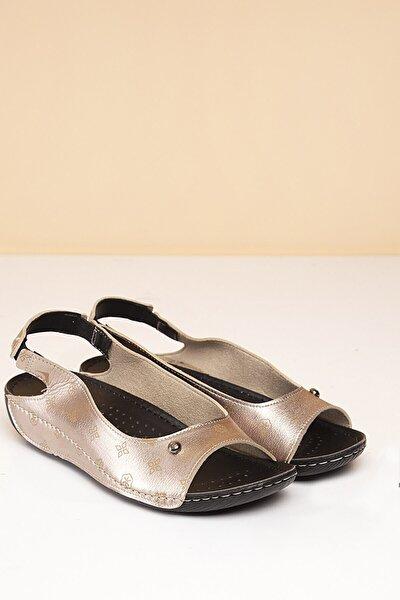 PC-1360 Platin-Bej Kadın Sandalet