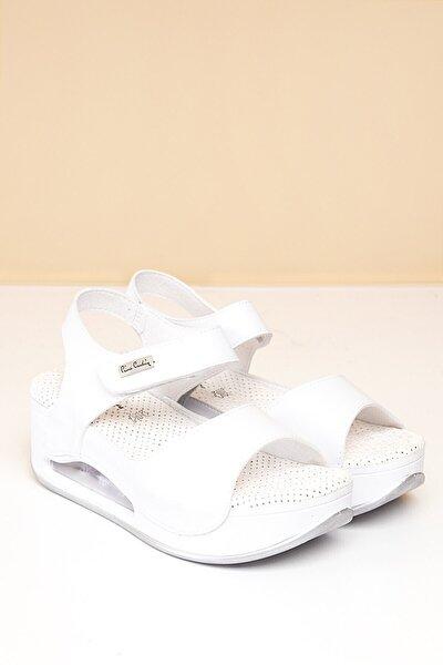 PC-1406 Beyaz Kadın Sandalet