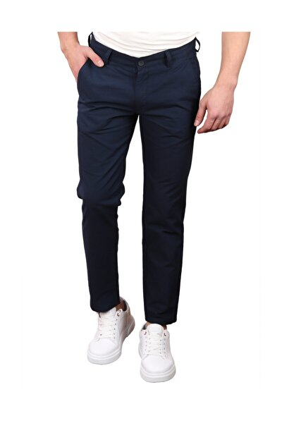 Regular Fıt Erkek Pantolon, Lacivert (erk56010)