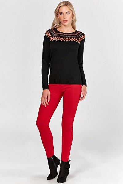 Kadın 19507-h Kırmızı Pantolon