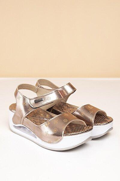 PC-1406 Platin-Bej Kadın Sandalet