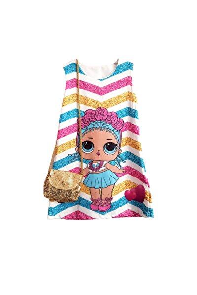 Lol Bebek Baskılı Elbise - Çanta Hediyeli