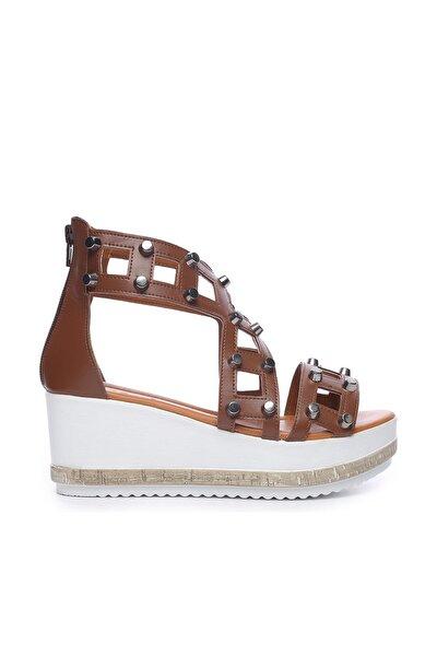Hakiki Deri Kahverengi Kadın Sandalet Sandalet 169 51748 BN SNDLT