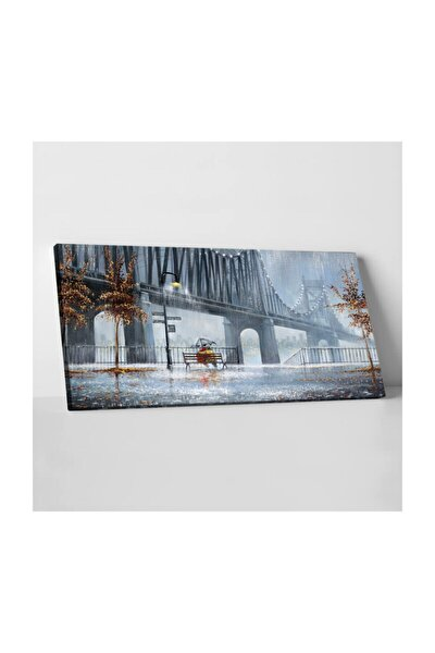 Sevgililer Kanvas Tablo 50x100cm