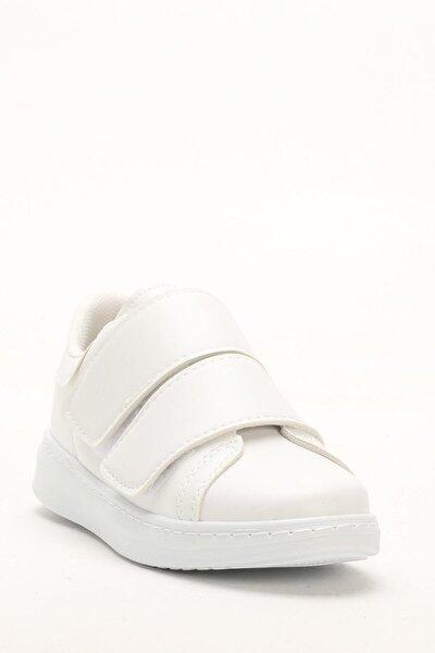 Kadın Beyaz Bantlı Kadın Sneaker
