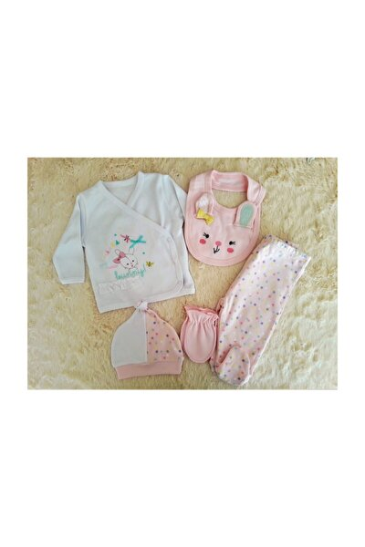 Tavşan 5li Kız Bebek Hastane Çıkış Seti