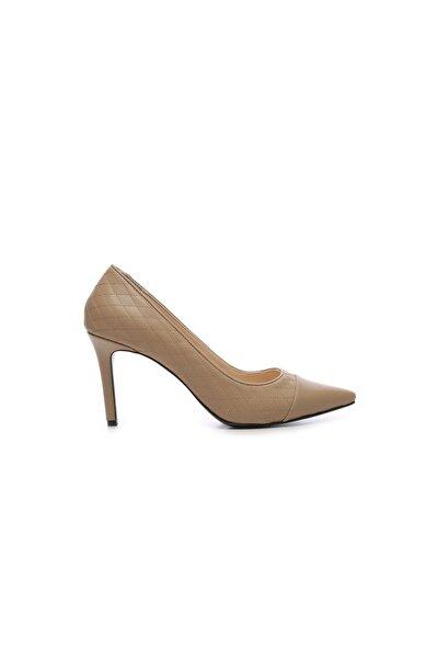 Bej Kadın Vegan Stiletto Ayakkabı 22 6512 BN AYK SK19-20