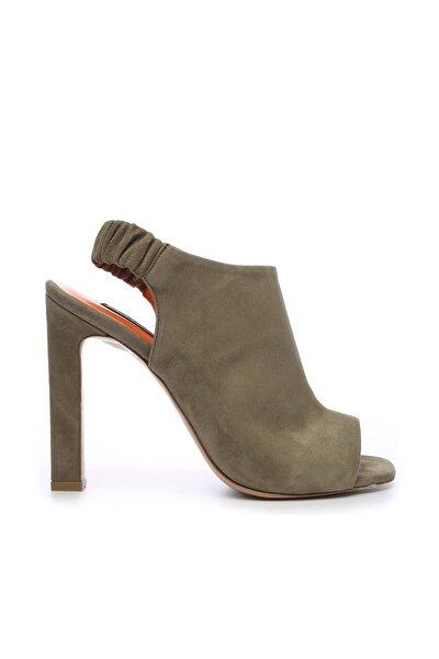 Hakiki Deri Yeşil Kadın Klasik Topuklu Ayakkabı 299 1668 09 BN AYK Y19
