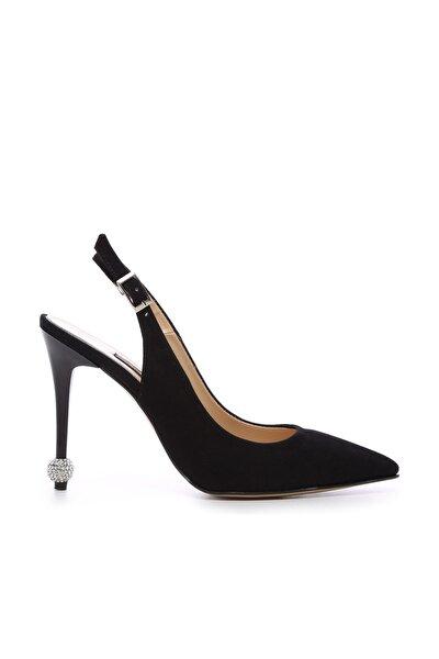 Siyah Kadın Vegan Klasik Topuklu Ayakkabı 22 6189 BN AYK Y19